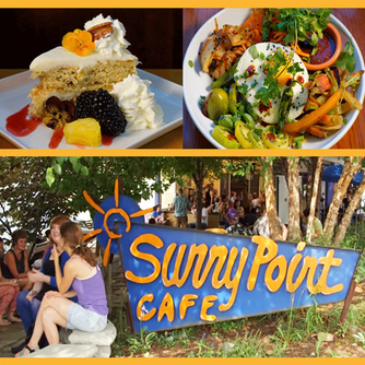 Enjoy a delicious meal at Sunny Point Café in Asheville North Carolina