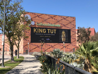 Incredible King Tut Treasures of the Golden Pharaoh showing at the California Science Center until J