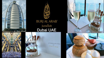Have afternoon tea at the stunning Burj Al Arab Skyview Bar and Restaurant in Dubai UAE