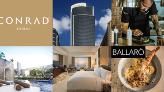 Enjoy the great location, service and delicious food at the Conrad Dubai and Ballarò Restaurant