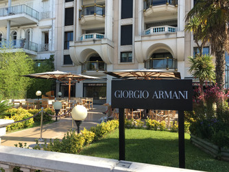 Enjoy a Very Chic Lunch at Armani Cafe Cannes France