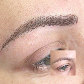Microbladin brows performed for this lad