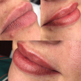 Permanent Make up lips performed for thi