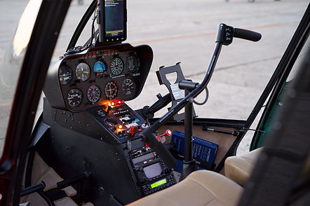 Interior Robinson R44 Raven 2 helicopter