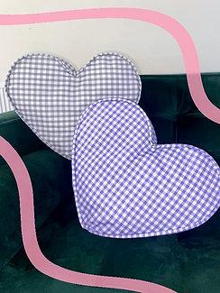 Gingham Heart Zero Waste Cushion