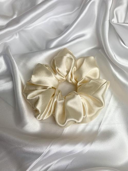Cream Luxury Satin Scrunchie