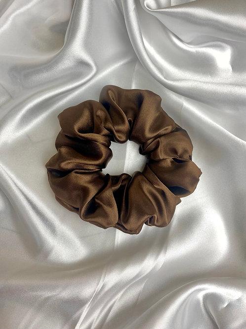 Brown Luxury Satin Scrunchie