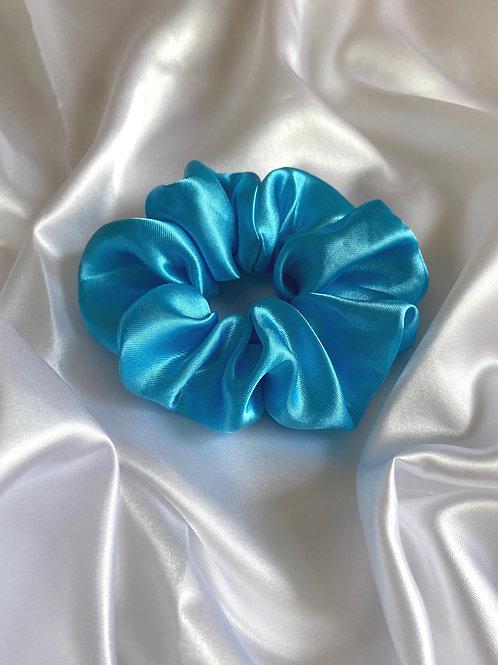 Blue Pastel Dreams - Luxury Satin Scrunchie