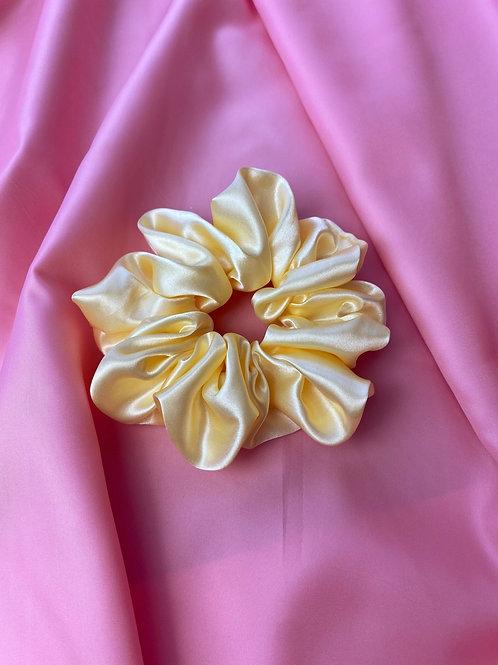 Lemon Pastel Dreams - Luxury Satin Scrunchie