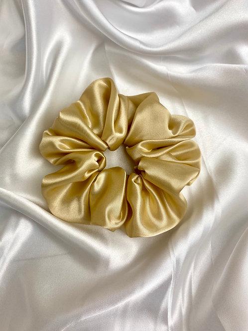 Gold Luxury Satin Scrunchie