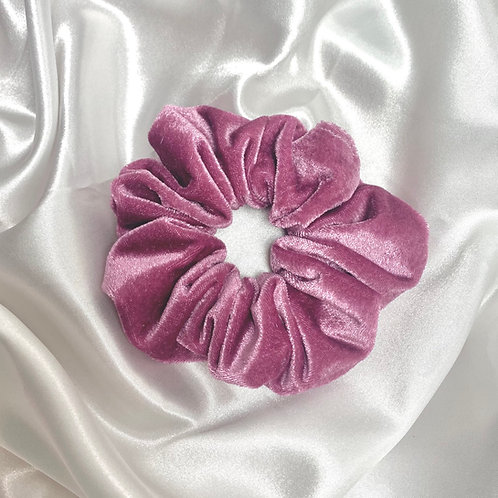 Dusky Pink Valentines Velvet Scrunchie