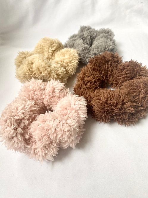 Teddybear Scrunchie 4 Pack