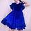Thumbnail: Lola Velvet Frill Smock Dress