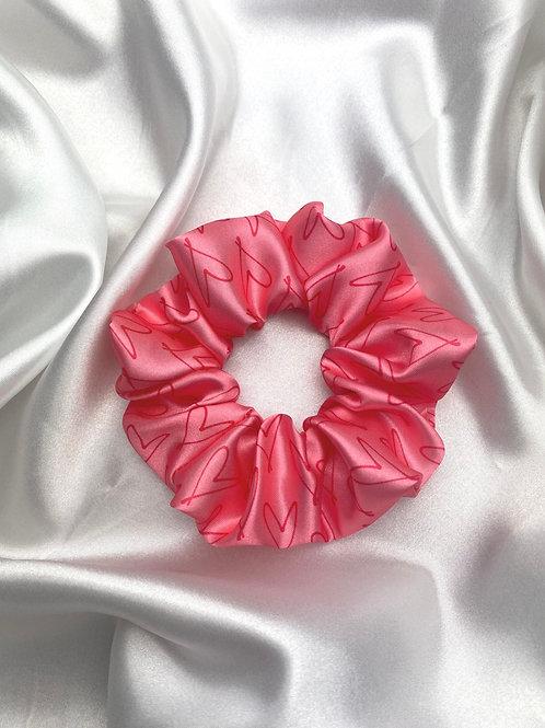 Cloie Pink Signature Heart Scrunchie