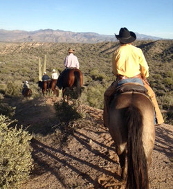 Trail riding Tonto National Forest