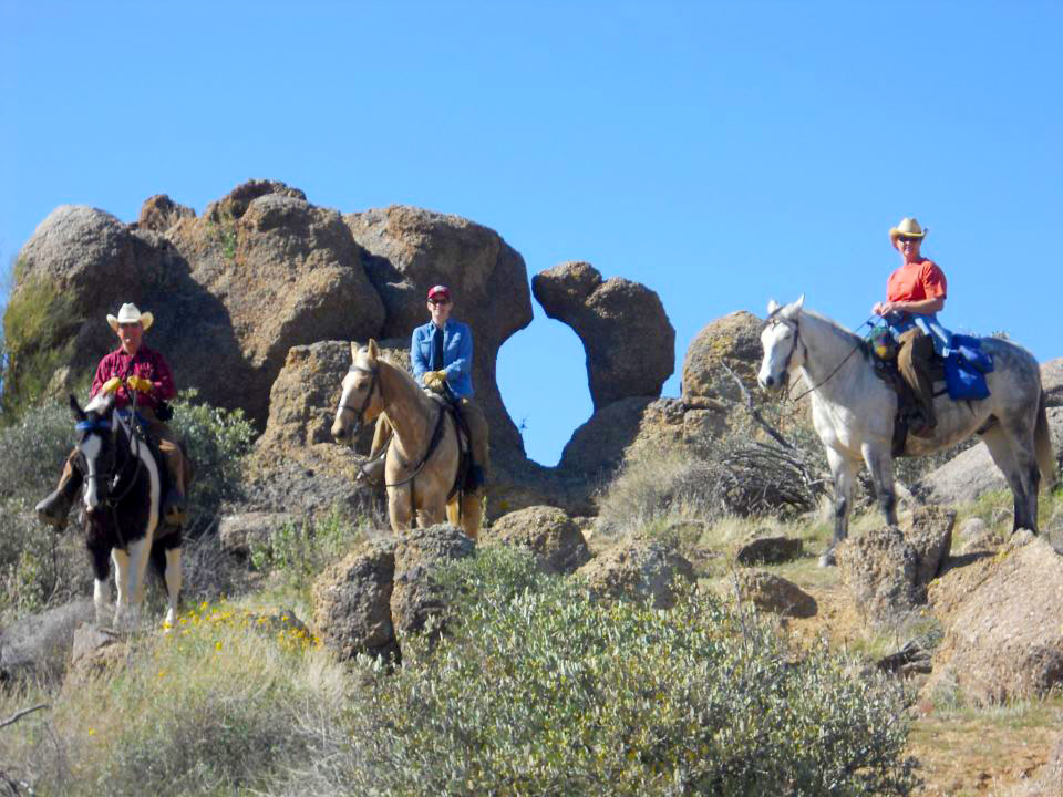 Trail ride to Window Rock