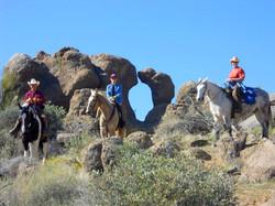 Trail ride to Window Rock