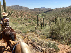 Trail riding in the wilderness