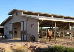 Open air barn stalls