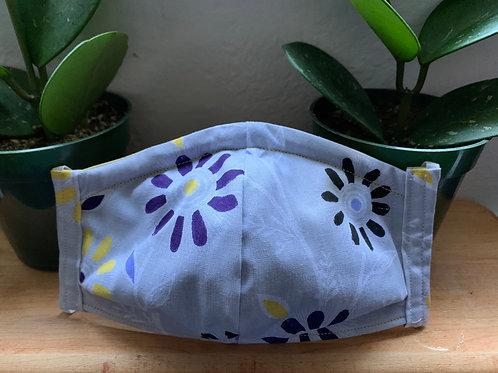 Adult Purple Flowers Mask