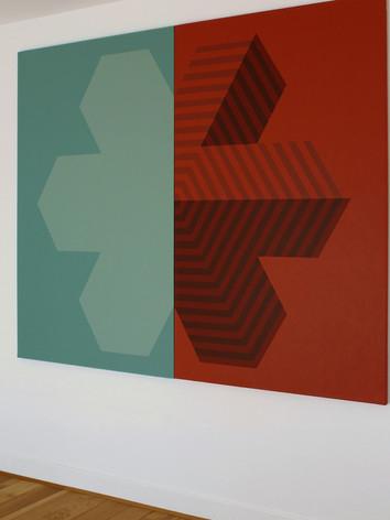 RÉVÉLATION PARTIELLE II Diptyque, acrylique sur toile 194x162cm