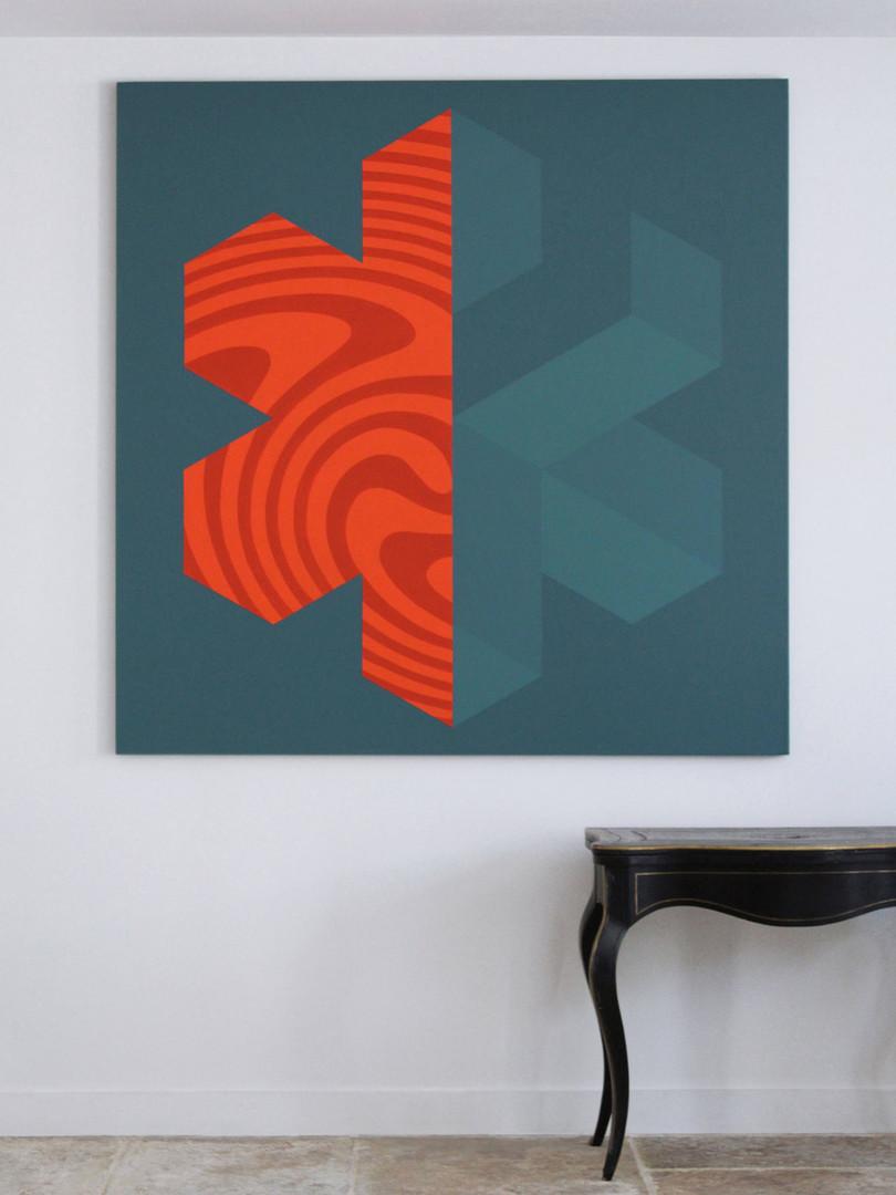 ALERTE ORANGE 150x150cm