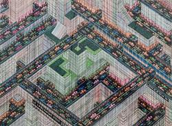 Labyrinthe ville multicolore IV