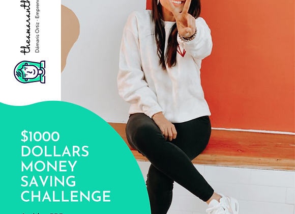 1000 dlls money saving challenge