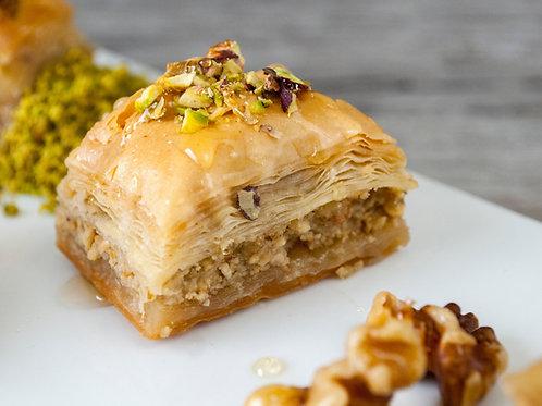 Baklava with walnuts- One pound/ 12 pieces