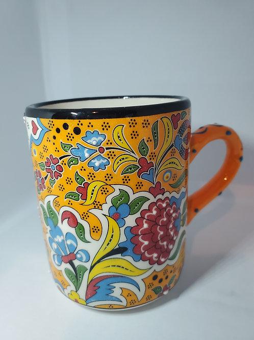 Handmade Turkish Ceramic Mug with historical motifs