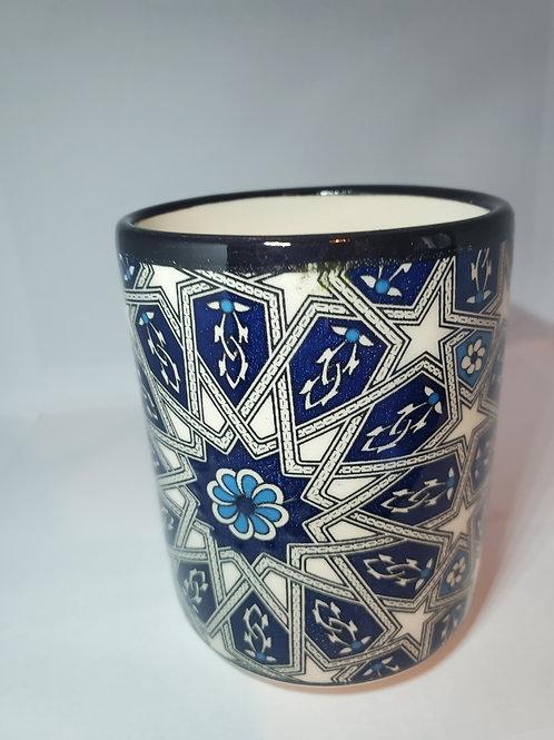 Handmade Turkish Ceramic Mug with beautiful historical motifs