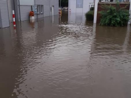 Starkregen-Katastrophe! Überschwemmung im Depot!