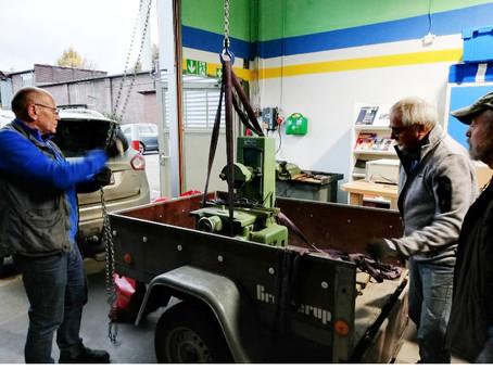 Neue Flachschleifmaschine im Depot