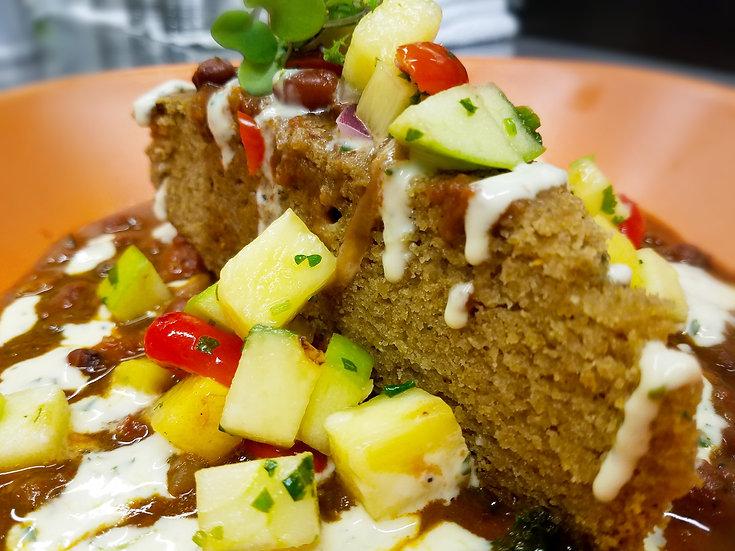 Savory Corn Cake (V/GF/NF)