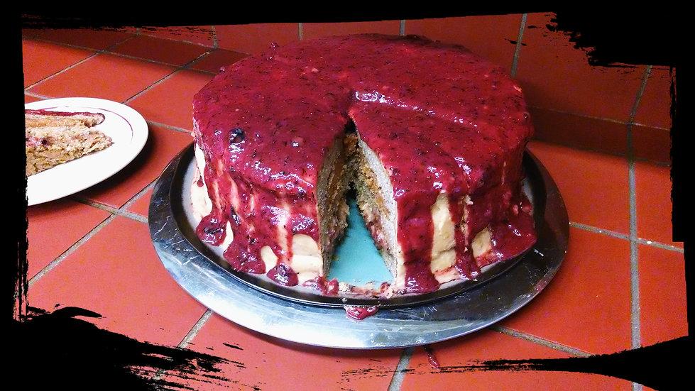"PB and J Vanilla Cake (V/GF) 12"""