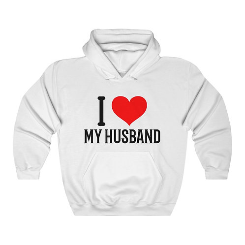 I Love My Husband Unisex Heavy Blend™ Hooded Sweatshirt
