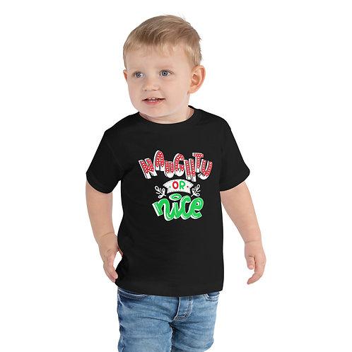 Naughty or Nice Toddler Short Sleeve Tee