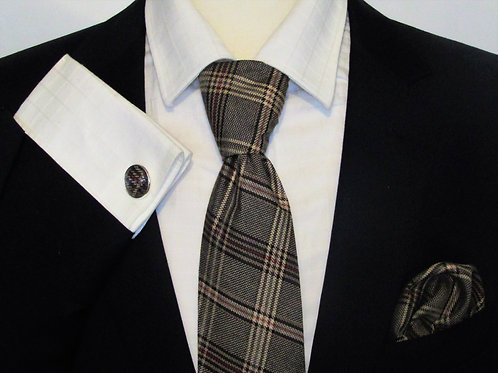 Harvest Plaid 3 piece Necktie Set