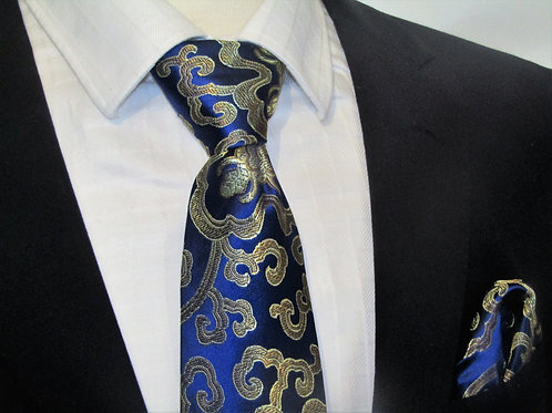 Gold Swirls 2 piece necktie set