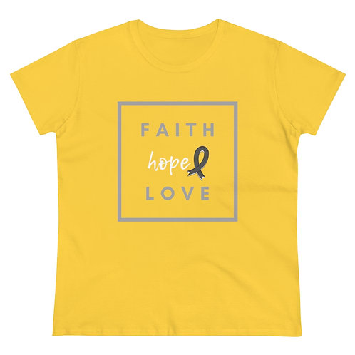 Cancer Faith Hope and Love Women's Heavy Cotton Tee