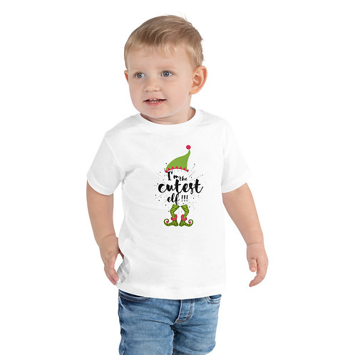 Cutest Elf Toddler Short Sleeve Tee