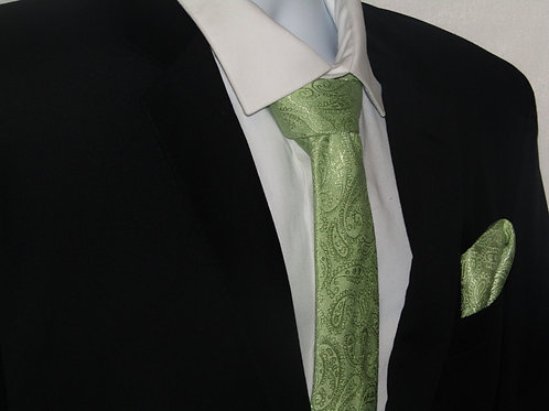 Sage Green 2 Piece Necktie Set