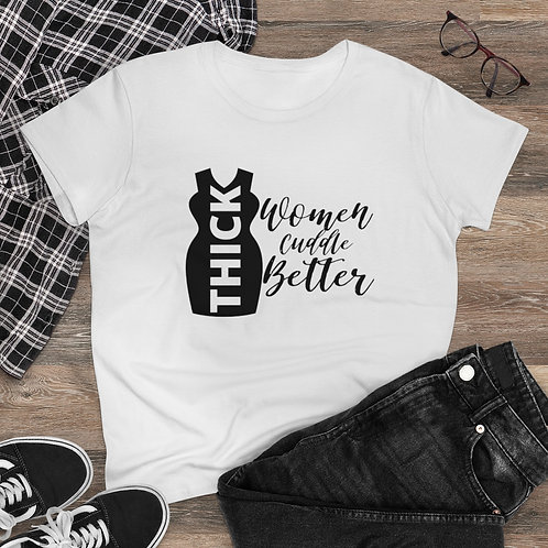 Thick Women Cuddle Women's Heavy Cotton Tee