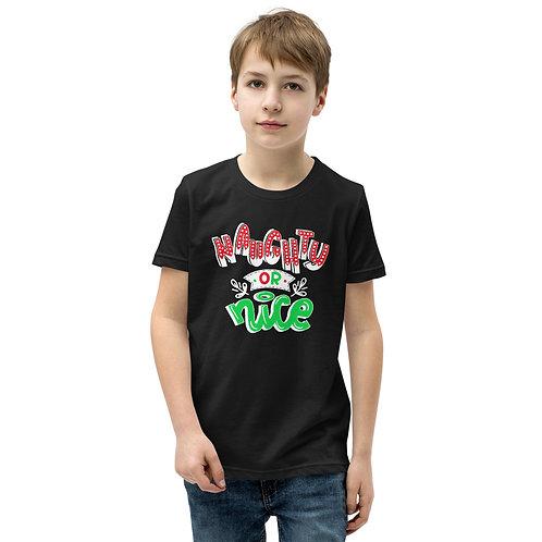 Naughty or Nice Youth Short Sleeve T-Shirt