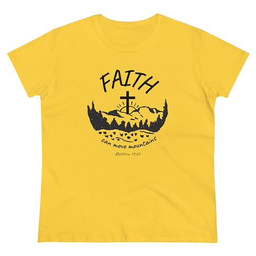 Faith can Move Mountains Women's Heavy Cotton Tee