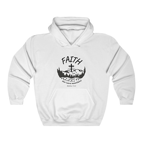 Faith Can Move Mountains Unisex Heavy Blend™ Hooded Sweatshirt