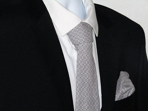 Gray Diamonds 2 Piece Necktie Set