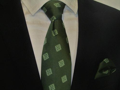 Varsity Green 2 piece Necktie Set