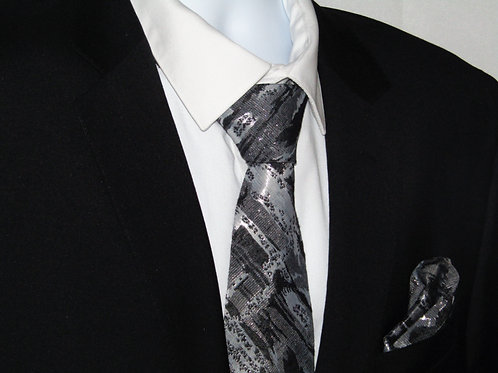 Silver Splash 2 Piece Necktie Set