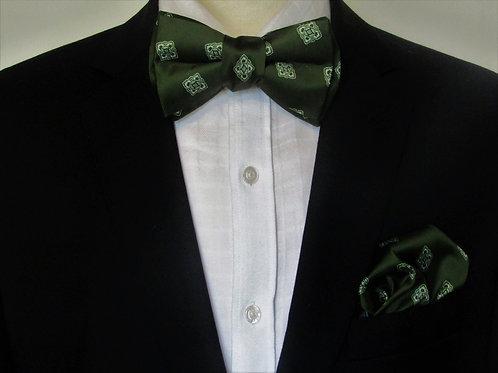Varsity Green 2 piece Bow Tie Set